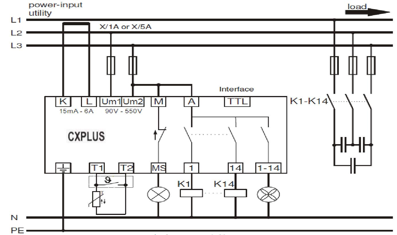 power factor control relay cxplus relay wiring diagram positive ground