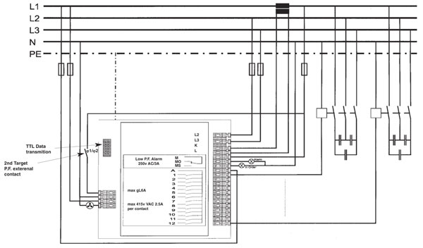Control And Relay Panel Wiring Diagram : Cx power factor control relay